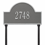 Pewter Silver Arch Marker Standard Lawn One Line