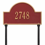 Red Gold Arch Marker Standard Lawn One Line