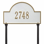 White Gold Arch Marker Standard Lawn One Line