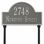 Pewter Silver Arch Marker Standard Lawn Two Line