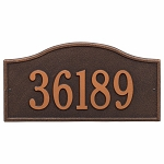 Oil Rubbed Bronze Rolling Hills Plaques Grand Wall One Line