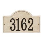 Stonework Arch House Numbers Plaque, Standard Wall 1-line