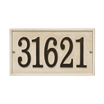 Stonework Rectangle House Numbers Plaque, Standard Wall 1-line