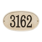 Stonework Oval House Numbers Plaque, Standard Wall 1-line