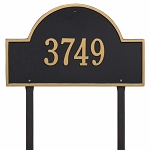 Black Gold Arch Marker Estate Lawn One Line