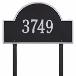 Black Silver Arch Marker Estate Lawn One Line