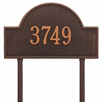 Oil Rubbed Bronze Arch Marker Estate Lawn One Line