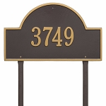 Bronze Gold Arch Marker Estate Lawn One Line