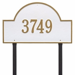 White Gold Arch Marker Estate Lawn One Line