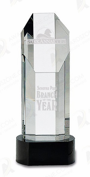 PEDESTAL TOWER CRYSTAL