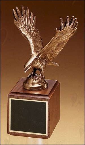"Finely Details Antique Bronze Eagle Casting 10-3/4"" Tall"