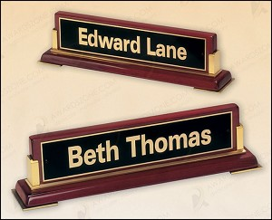 Rosewood Piano Finish Nameplate 10-5/8