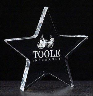Star Acrylic Paper Weight 5