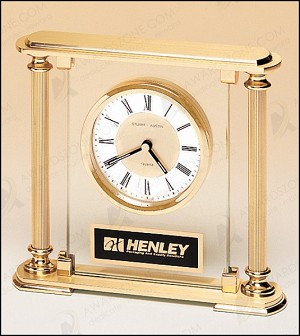 "Traditionally Styled Desk Clock 5-5/8"" Wide X 7-1/4"" Tall"