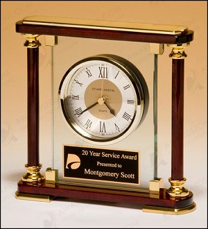 Piano-Finish Mantle Clock 7