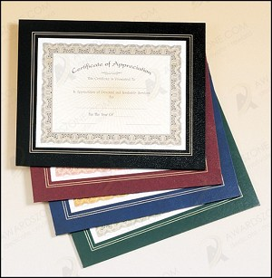Leatherette Frame Certificate Holder 10-3/4