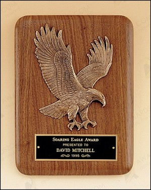 American Walnut Plaque with Eagle Casting 7