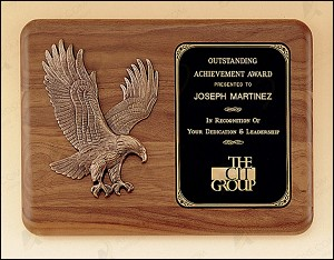 American Walnut Plaque with Eagle Casting 11