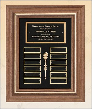 American Walnut Frame Perpetual Plaque 18