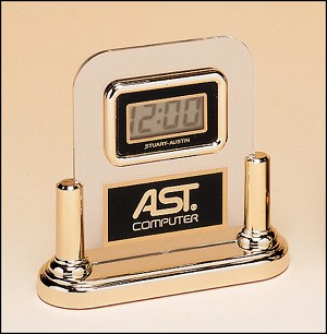 "Acrylic Clock With LCD Movement 5"" Wide X 5"" Tall"