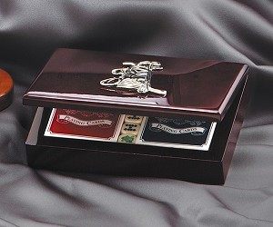 Poker Set with Golf Crest