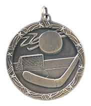 1 3/4 inch  Hockey Shooting Star Medal