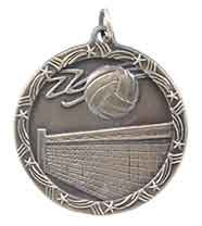 1 3/4 inch  Volleyball Shooting Star Medal