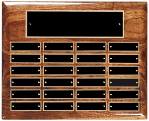 "10 1/2"" x 13"" Solid Walnut High Gloss Prepetual Plaque"