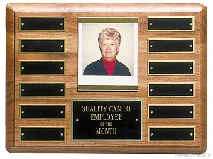"9"" x 12"" Solid Walnut Perpetual Plaque"
