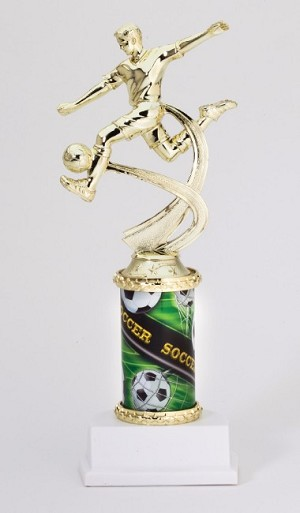 "10"" Tall Male Soccer Trophy"