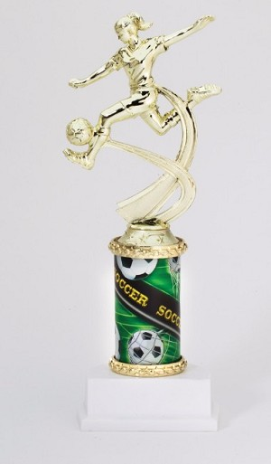 "10"" Tall Female Soccer Trophy"