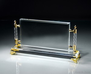 "11"" x 5 3/4"" Tall Crystal Rectangle Frame"