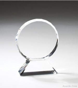 "4 1/2"" x 5 1/2""Tall Crystal Circle"