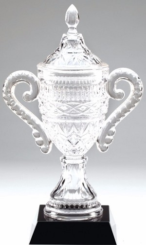 "15"" Tall Crystal Vase"