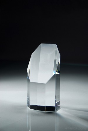 "6 1/2"" Tall Crystal Pillar Award"