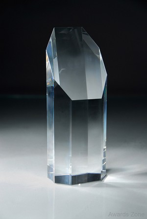"8 1/2"" Tall Crystal Pillar Award"
