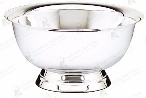 "12"" Tall Revere Bowl Nickel Plated"
