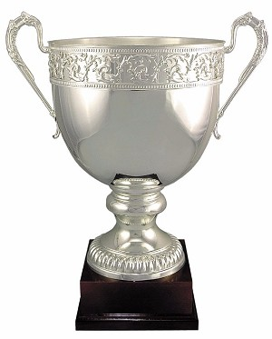 "21 1/4"" Tall Silver Plated Engravable Cup"