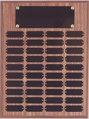 "9"" x 12""Tall Perpetual Plaque Assembled with Black Plates"