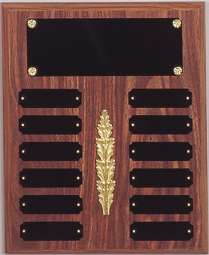"10 1/2"" x 13""Tall Perpetual Plaque Assembled with Black Plates"