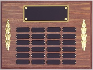 "12"" x 16""Tall Perpetual Plaque Assembled with Black Plates"