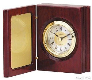"7 1/2"" X 5 1/4""Tall Book Clock With Hinged Cover"