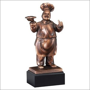 "11"" Tall Chef Trophy"
