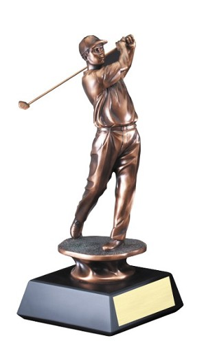 "10"" Tall Male Resin Golfer"