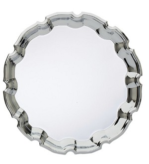 "9 3/4"" Tall Round Chrome Tray"