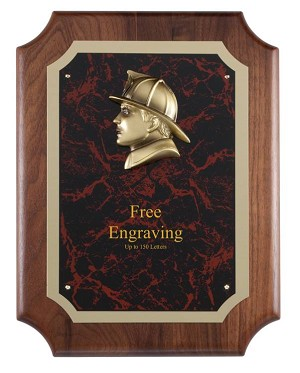 Fireman Head Casting Plaque