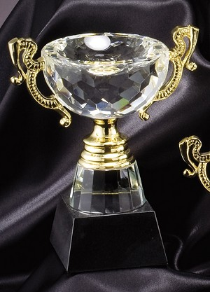 Optical Crystal Golf Trophy Cup Large