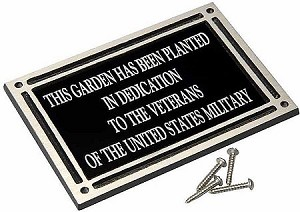 Outdoor Dedication or Memorial Plaque 6x8