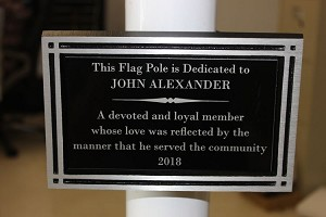 Flag Pole Dedication Plaque