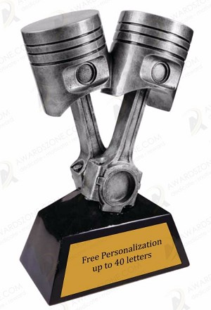 "11"" Antique Silver Piston Award"